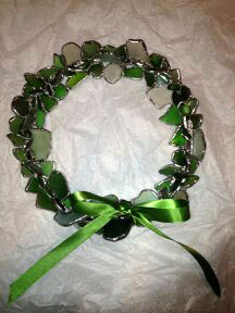 beach-glass-wreath-green