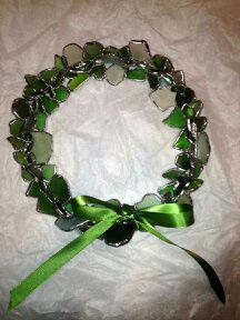 beach-glass-wreath-green